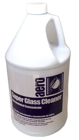Concentrated Glass Cleaner, Ammoniated, Aero, One Gallon, Box of 4
