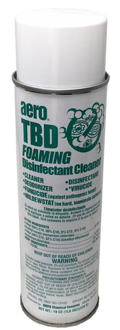Disinfectant Spray and Foaming Cleaner, TBD, Aero, 19oz Can, Box of 12