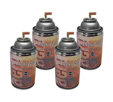 Automatic Air Freshener Spray Refill, Tropical Sun, 7 oz. Can, Box of 4