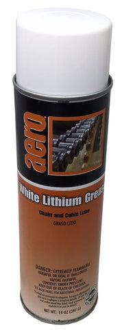 White Lithium Grease, Chain and Cable Lube, 14oz Can