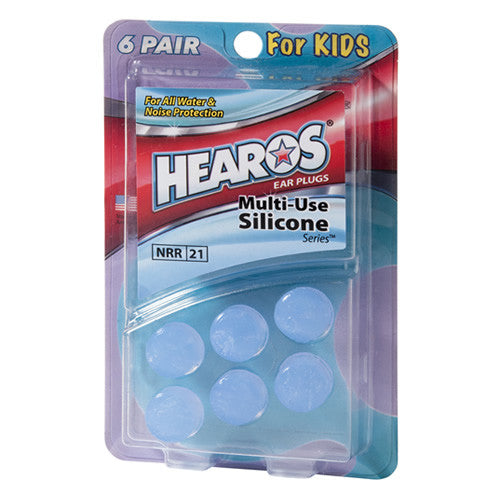 Multi-Use Silicone Ear Plugs, 6 Pair, Child - HEAROS