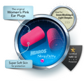 Sleep Pretty in Pink Foam Ear Plugs NRR 32 Hearing (snoring) Protection - HEAROS