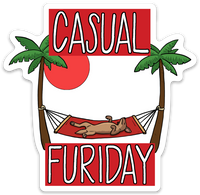 Casual Furiday Heavy Duty Sticker