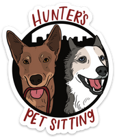 Hunter's Pet Sitting Sticker