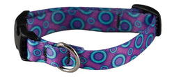 Ecoweave Purple Blue Space Dots Collar for Small Dogs
