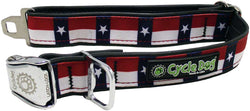 Don't Mess With Texas Eco-Friendly Collar - Recycled Rubber, Metal Buckle, Bottle Opener