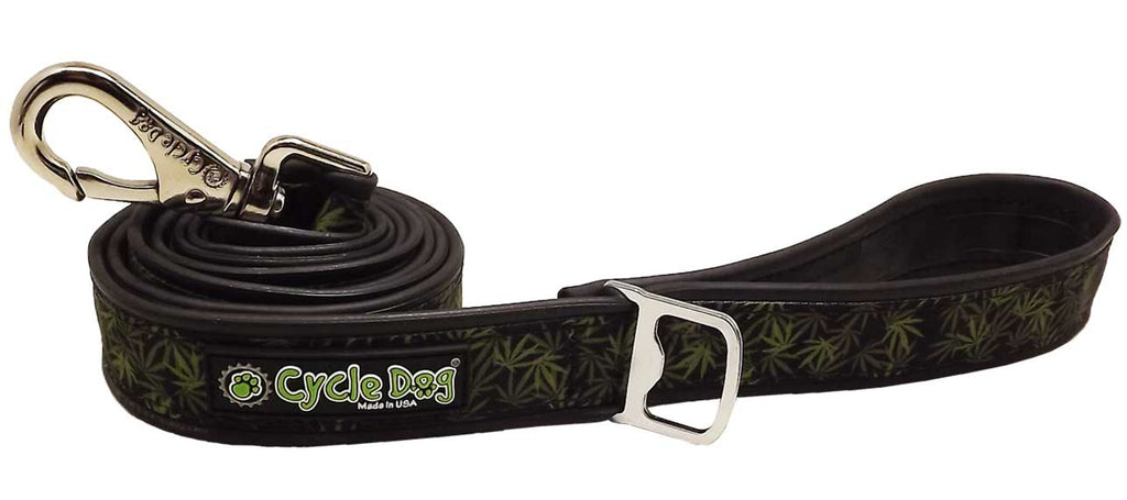 In The Weeds Eco-Friendly Leash - 6 ft, Recycled Rubber, Metal Buckle, Bottle Opener