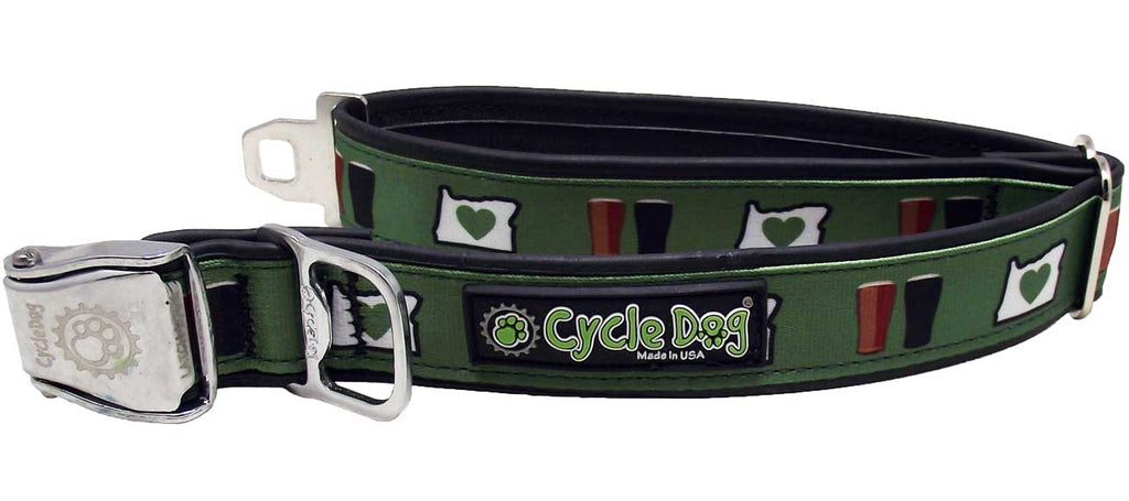 Oregon Brews Eco-Friendly Collar - Recycled Rubber, Metal Buckle, Bottle Opener