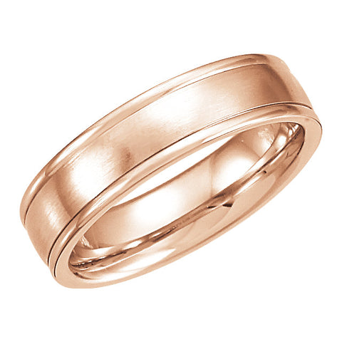 Carved Satin Wedding Band