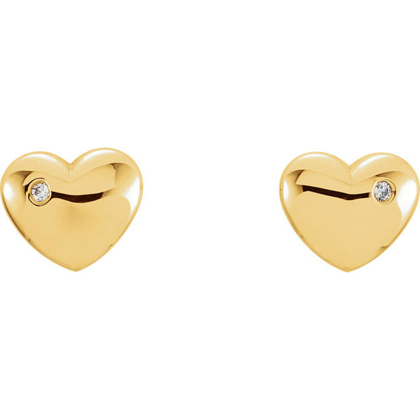 Diamond Heart Earrings
