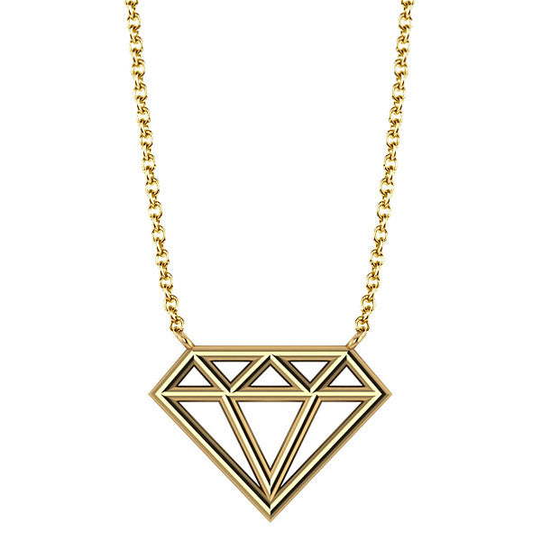 Geo Diamond Necklace