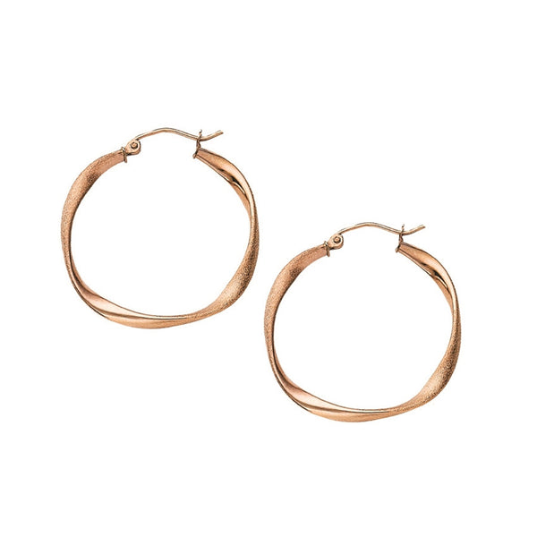 Gold Satin Hoop Earrings