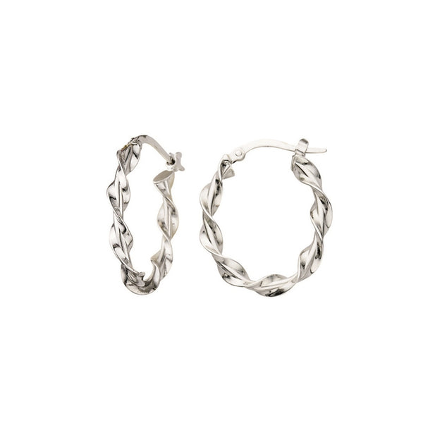 Ribbon Hoop Earrings