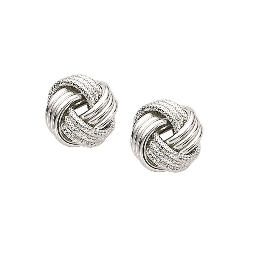 Textured Love Knot Earrings