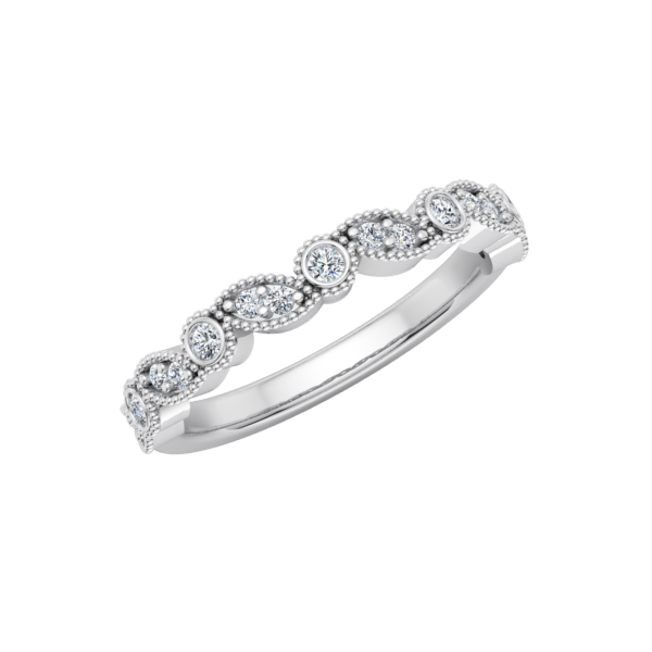 Deco Milgrain Wedding Ring
