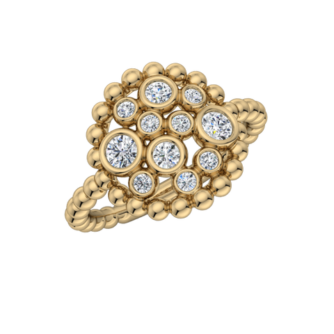 Champagne Diamond Bubble Ring