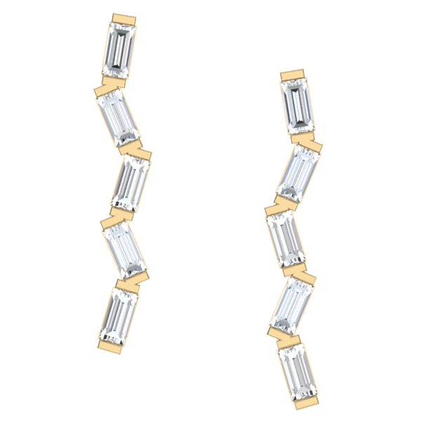 Baguette Zig Zag Earrings