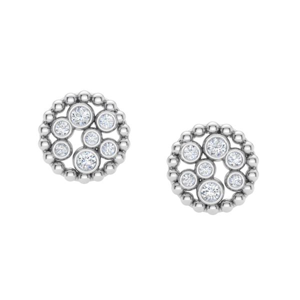 Champagne Diamond Bubble Earrings