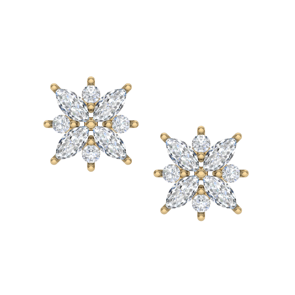 Flower Bomb Diamond Earrings