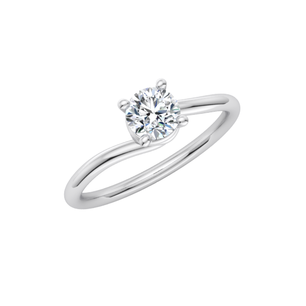 Spiral Solitaire Engagement Ring