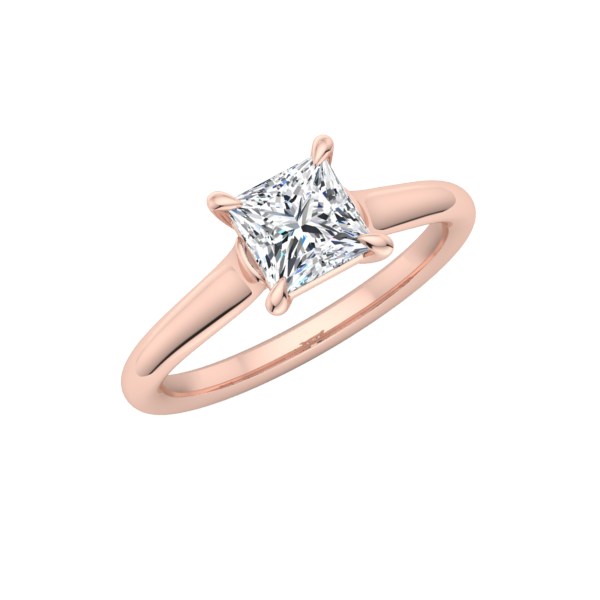 Classic Princess Solitaire Engagement Ring