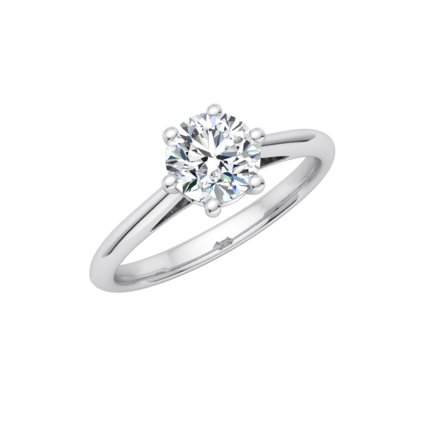 Blossom Solitaire Engagement Ring