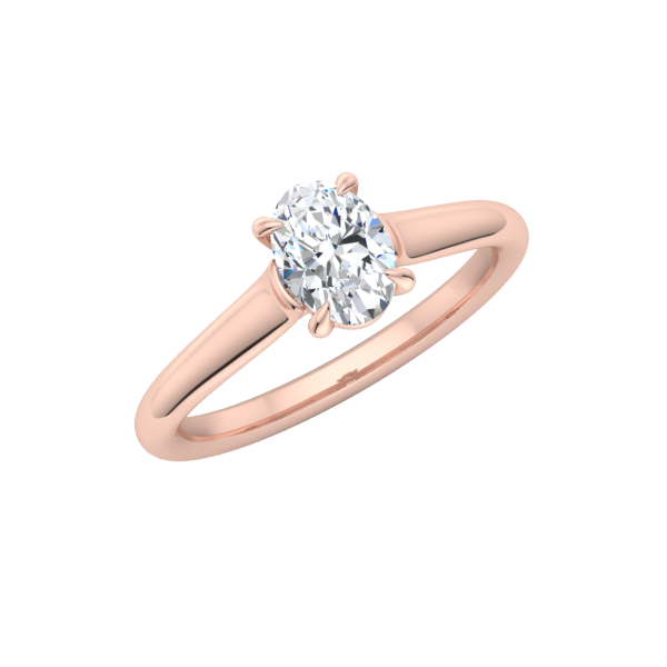 Classic Oval Solitaire Engagement Ring