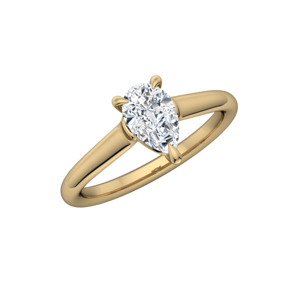 Classic Pear Solitaire Engagement Ring