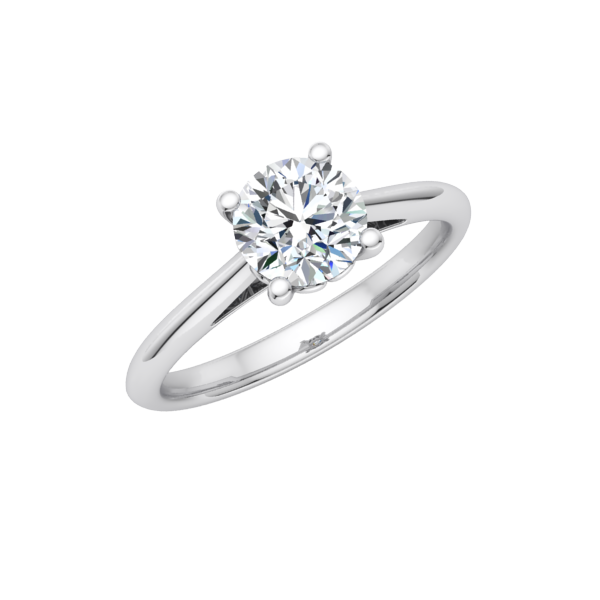 Cathedral Scroll Solitaire Engagement Ring