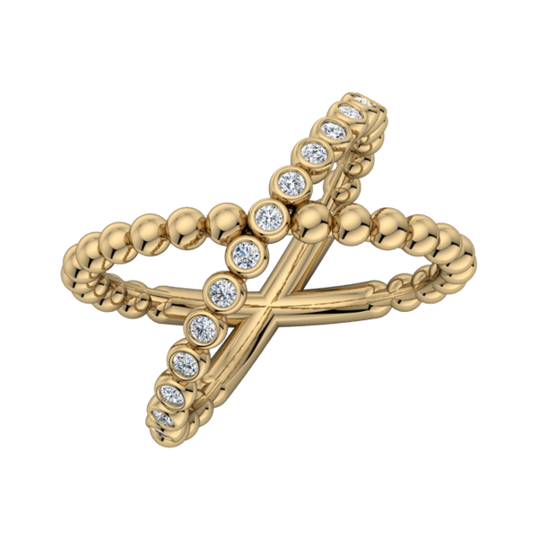 Criss-Cross Bubbly Ring