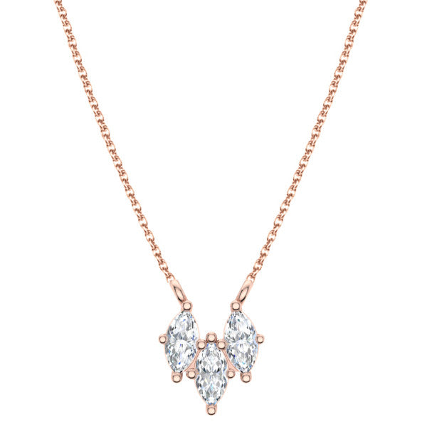 Trio Marquise Diamond Necklace