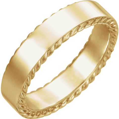 Rope Wedding Band