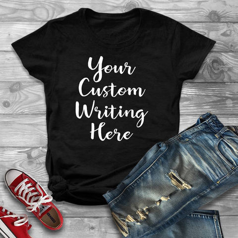 Custom Unisex T Shirt Personalized Tee Make Your Own T-Shirts