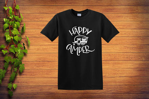 Happy Camper T Shirt - Custom Lifestyle Designs