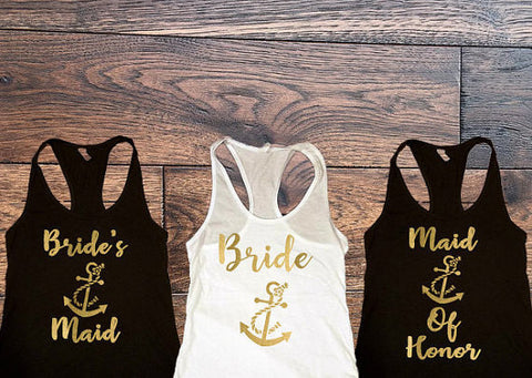 Bride, Brides Maids, Brides, Maid Of Honor Tanks - Custom Lifestyle Designs
