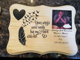 Memorial Plaque, Wood Sign In Loving Memory - Custom Lifestyle Designs
