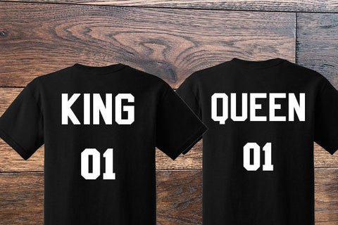 King and Queen Couples Shirt Set - Custom Lifestyle Designs