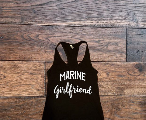 Marine Girlfriend Tank Top - Custom Lifestyle Designs