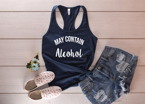 May Contain Alcohol Tank Top - Custom Lifestyle Designs