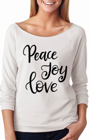 Peace Joy Love Shirt - Custom Lifestyle Designs