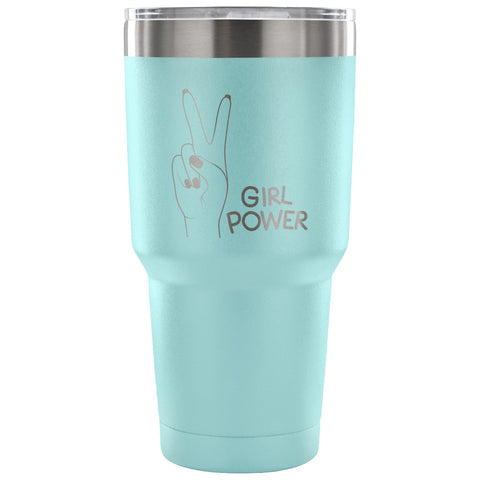 Girl Power 30 oz Tumbler - Travel Cup, Coffee Mug - Custom Lifestyle Designs