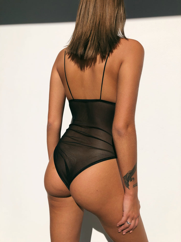 ABELLA BODYSUIT BLACK - Generation Outcast Clothing