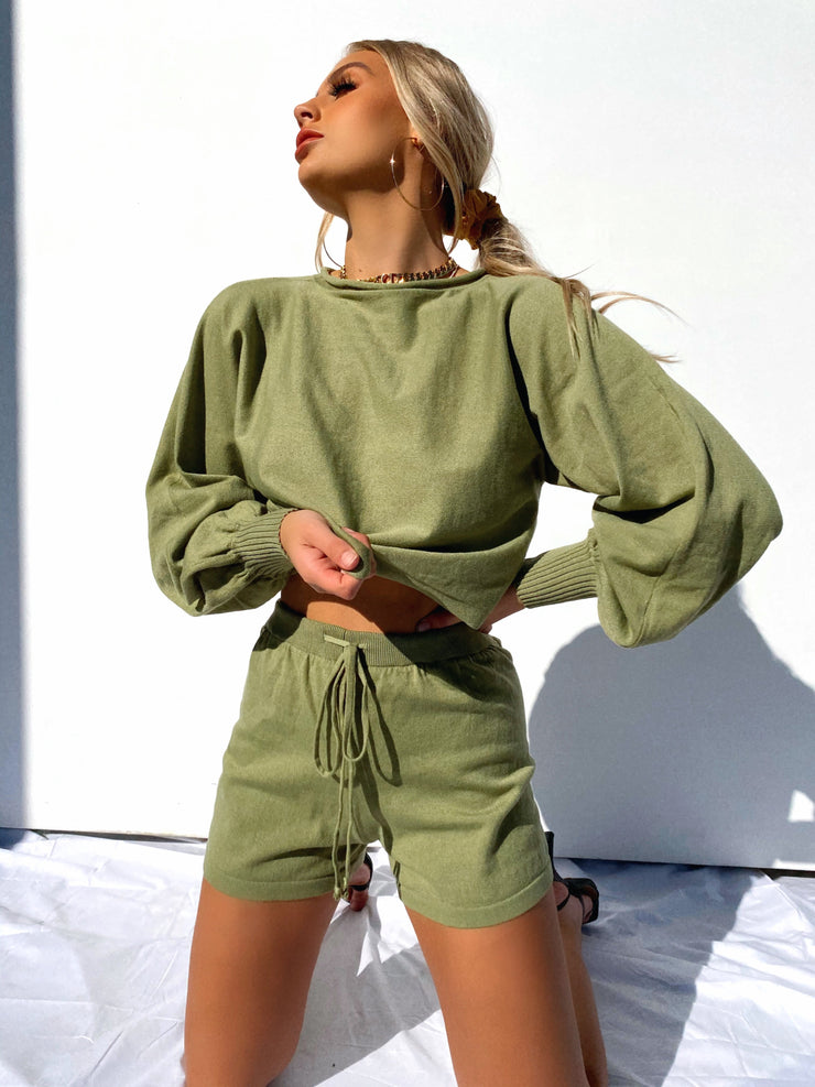 MINA TWO PIECE SET KHAKI