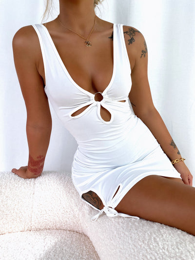 DELTA MINI DRESS WHITE