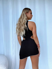 NATASHA CUT OUT DRESS BLACK