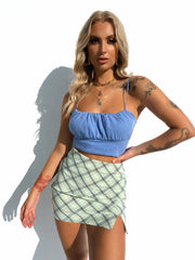 FALL BACK PLAID SKIRT