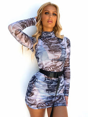 HOT AS HELL MESH DRESS - Generation Outcast Clothing