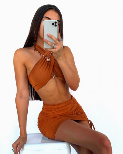 COLBIE TWO PIECE TAN SAND