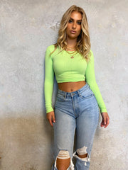 ETTA CROP TOP NEON