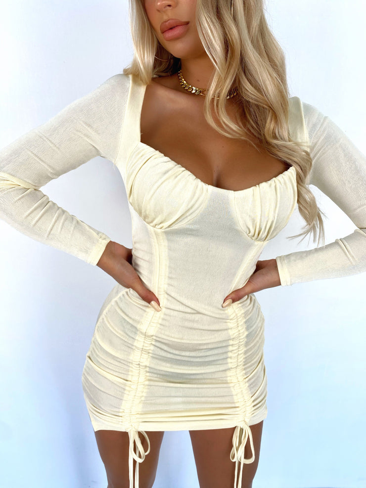 FORCE OF NATURE LONG SLEEVE MINI DRESS